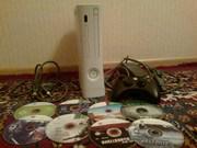 Продам Xbox 360 прошитая + 8 дисков